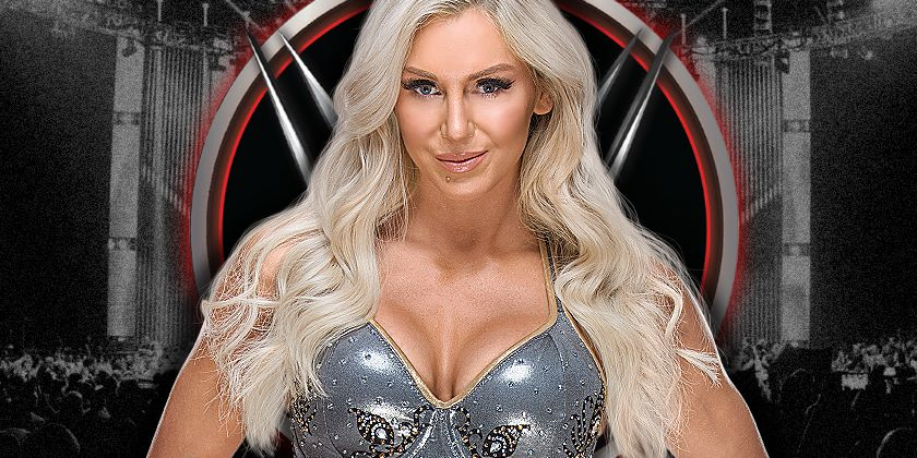 Charlotte Flair backstage at Tonight's RAW