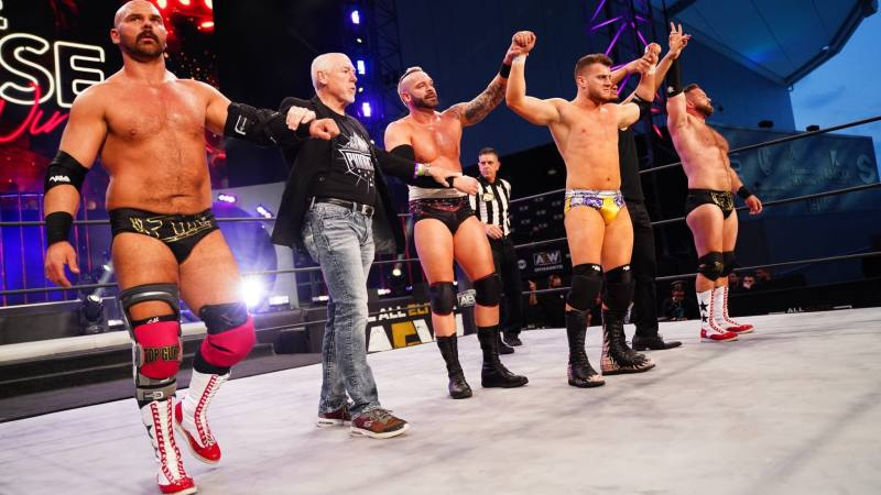 The Pinnacle Gets Team Advantage For AEW Blood And Guts Match