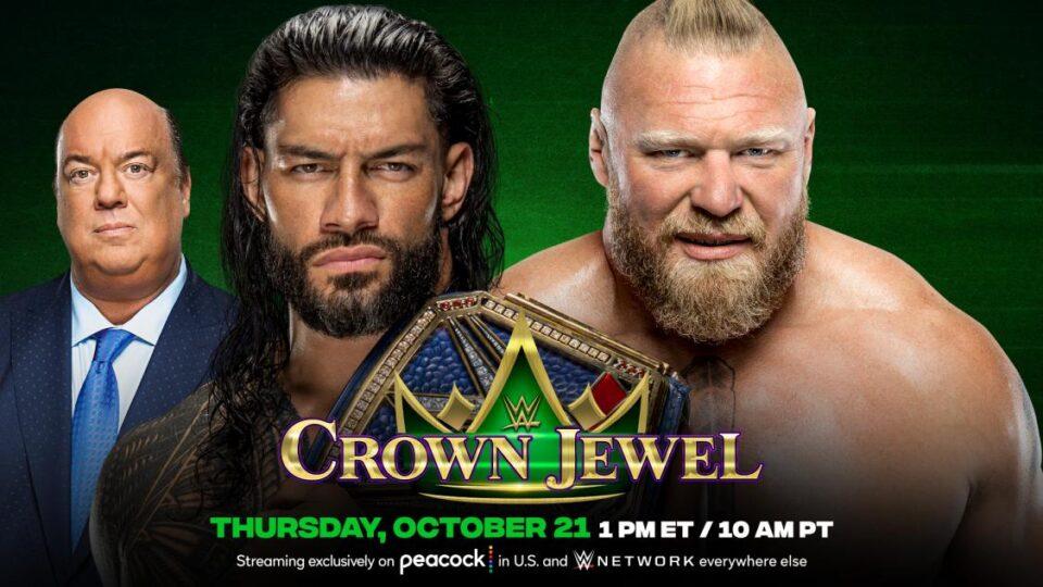 Brock Lesnar Vs Roman Reigns Announced For WWE Crown Jewel