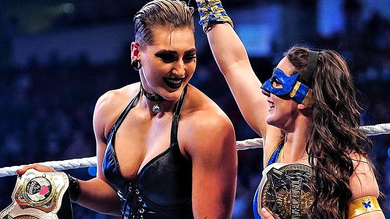 Nikki A.S.H. and Rhea Ripley Win The Women's Tag Team Titles